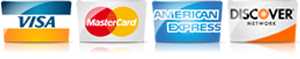 For   in , , we accept most major credit cards.